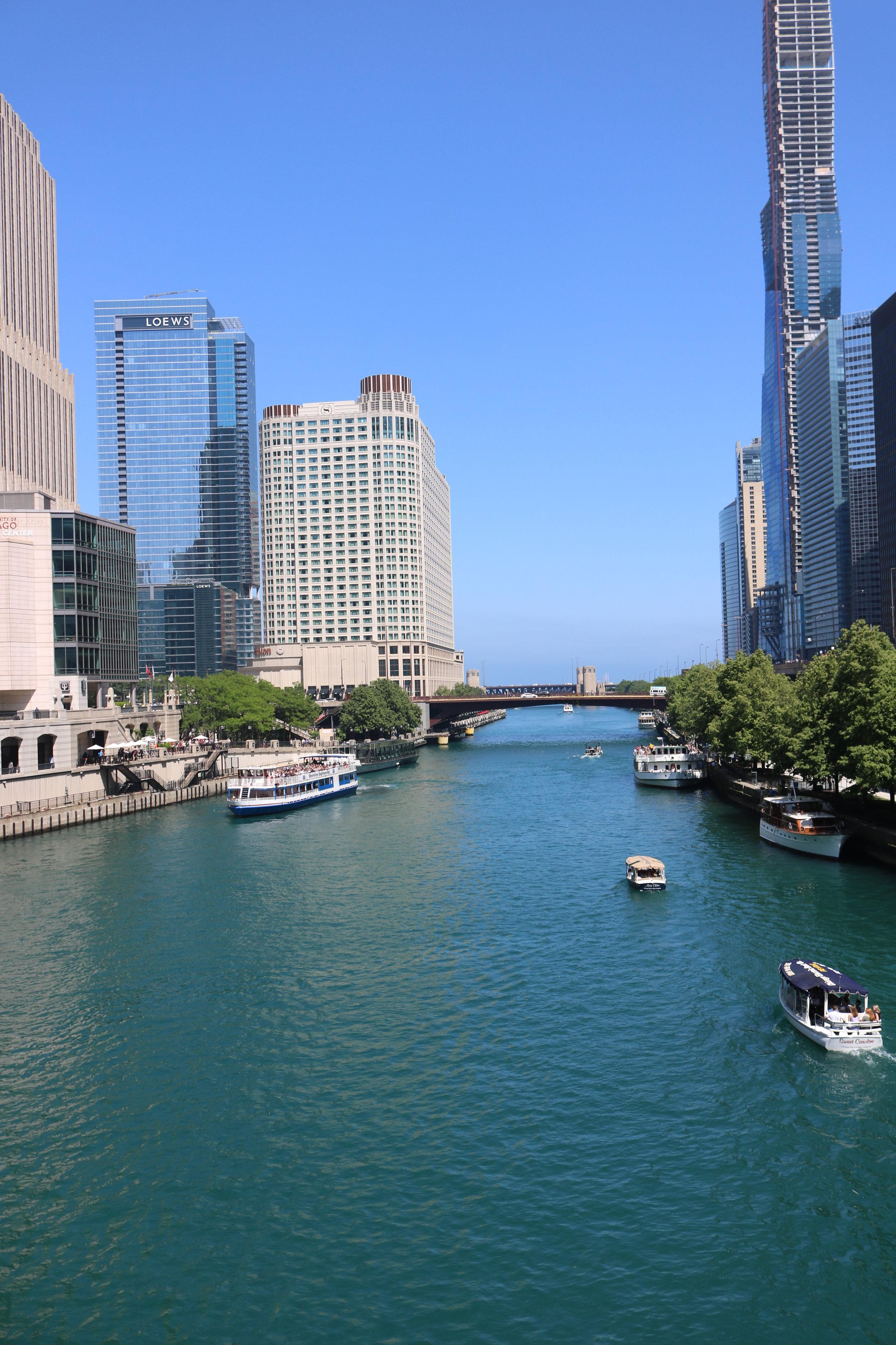 Chicago Skyline Riverwalk.JPG