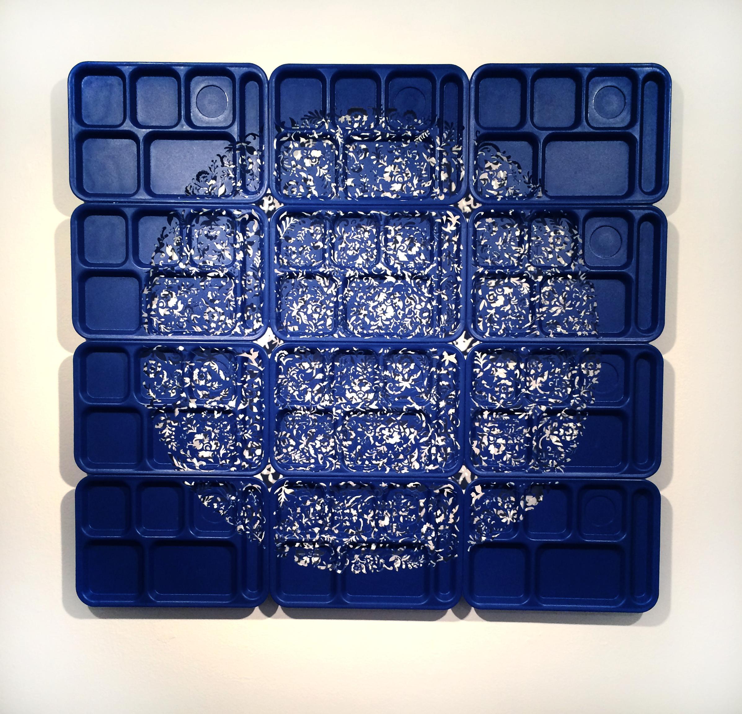 Six Compartment Delftware