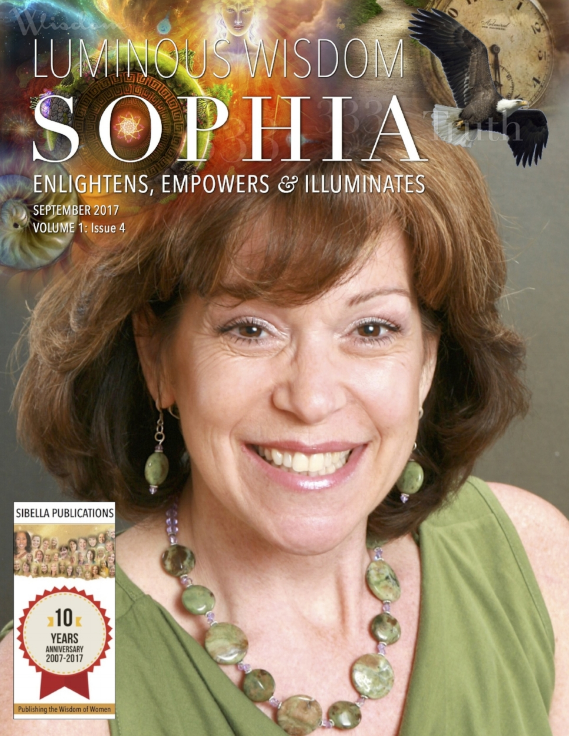 Luminous Wisdom | Sophia Cover, September 2017 - Honored to be on the cover of this online global magazine that enlightens, empowers and illuminates.