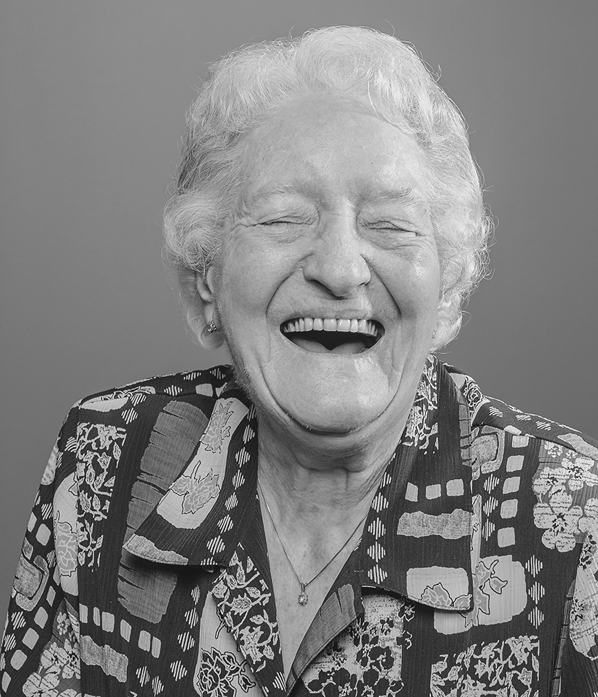 Jacoba (Oma) Veenendaal (née Nijland).March 2, 1924-July 1, 2014. This photo was made in 2007.