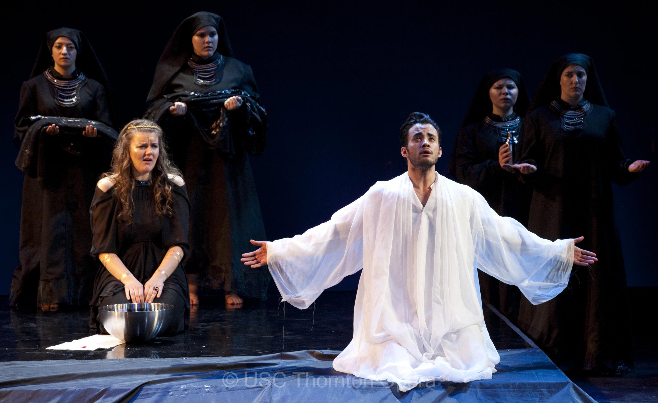 oreste in gluck's  iphigénie en tauride.  yelena dyachek as the title role.  photo credit: kristina jacinth