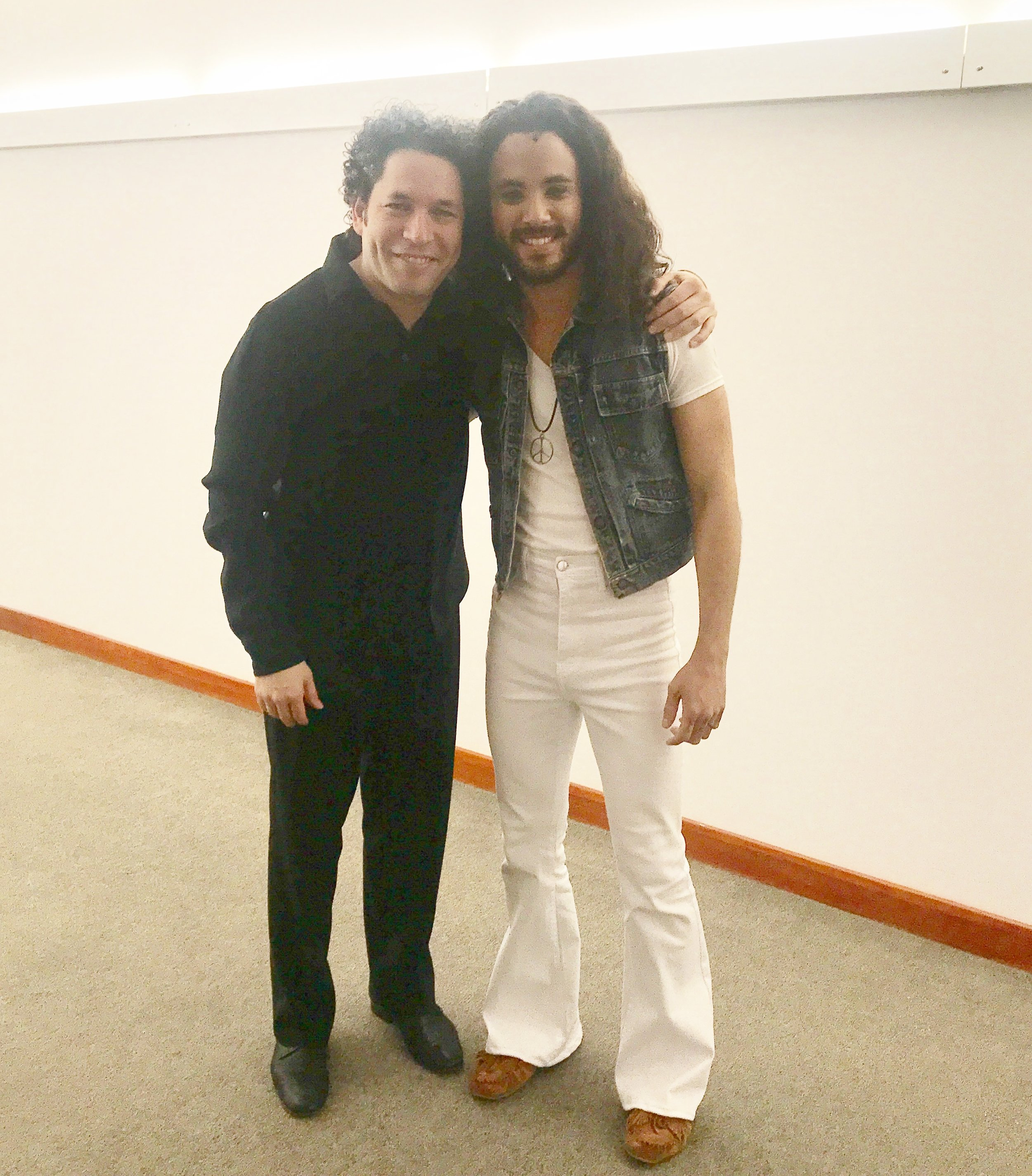 With Maestro Gustavo Dudamel after our final performance of Bernstein's  Mass  with the Los Angeles Philharmonic