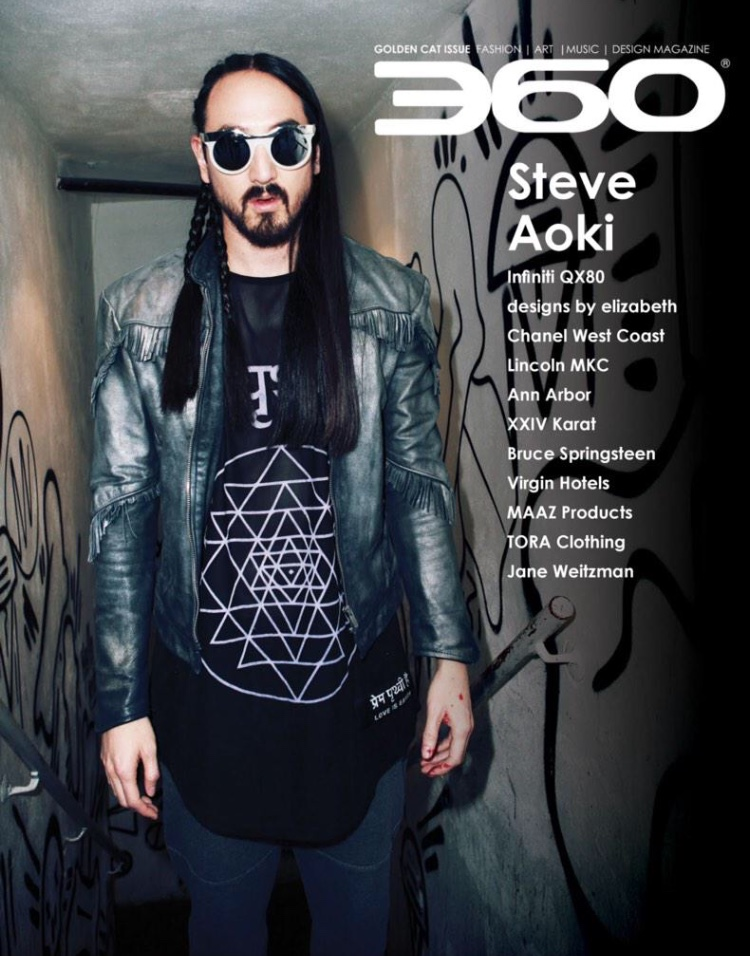 360 Magazine cover shoot featuring Steve Aoki