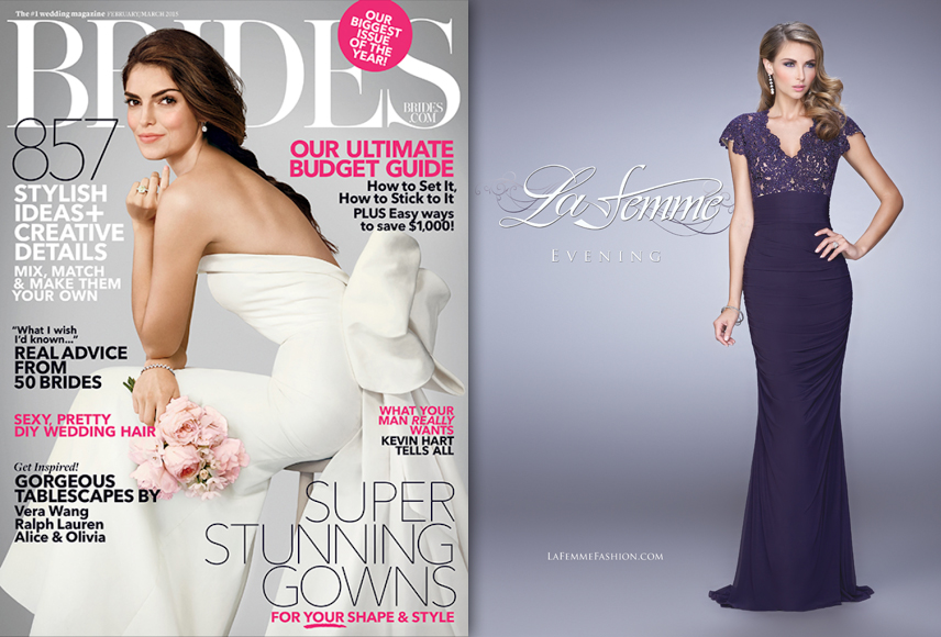 "Brides Magazine: March 2015 ""La Femme"""
