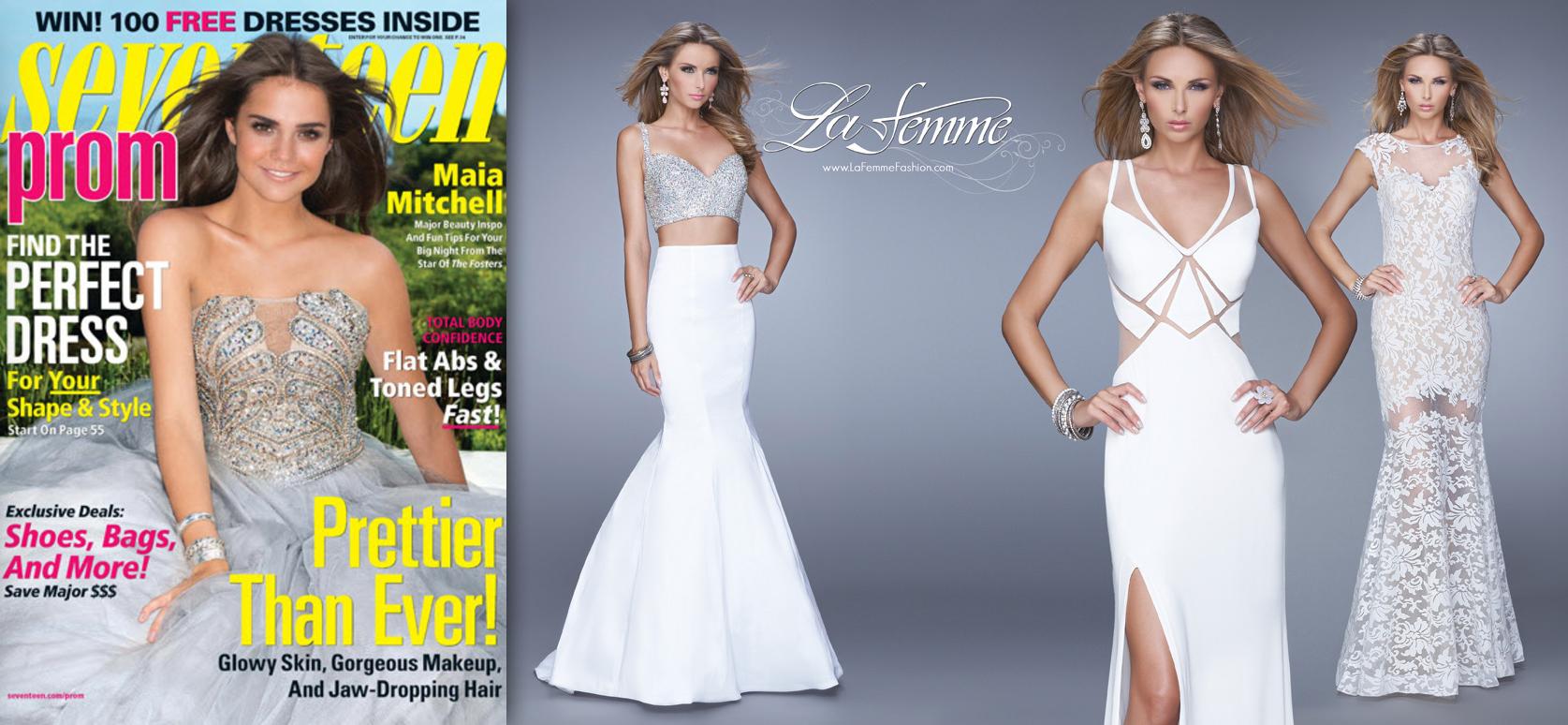 "Seventeen Magazine: Prom 2015 ""La Femme"""