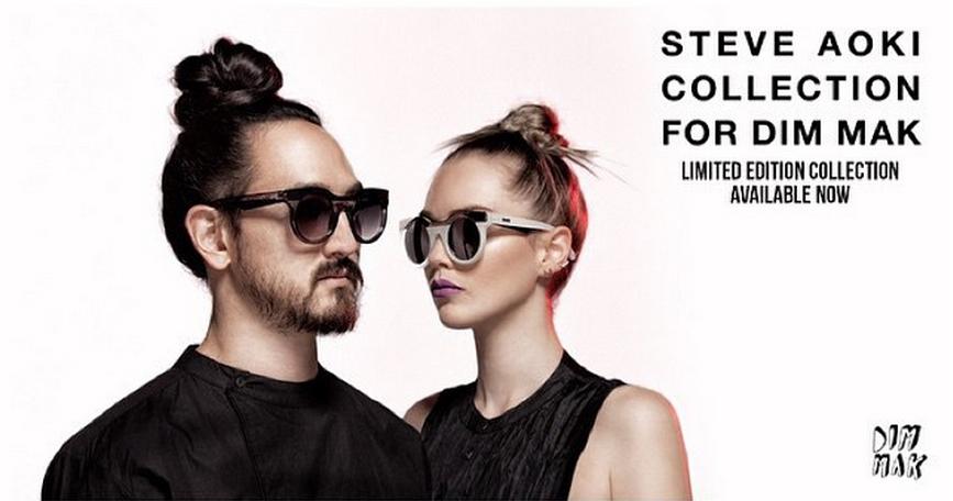 Steve Aoki for Dim Mak Eyewear campaign
