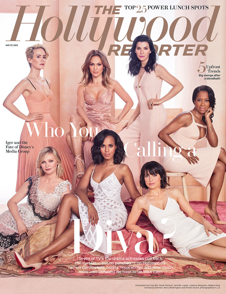 "CONSTANCE ZIMMER FOR THE HOLLYWOOD REPORTER'S COVER, SPREAD, AND VIDEO ""WHO YOU CALLING A DIVA?"""