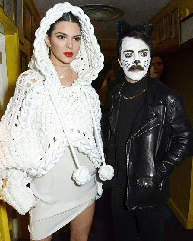 That time Kirby said, make me a cat!  #kirbyjenner  #Repost @kirbyjenner ・・・ As you can imagine, Kendall and I were pretty embarrassed when we showed up to Cardi B's birthday party which apparently WASN'T a costume party smdh. I went as a cat and Kendall went as a ball of yarn... but we played it off by pretending we were going to a costume party AFTER Cardi's which was def a lie but whatever lol #TwoHoursOfMakeUp #CoolCat #Yarn