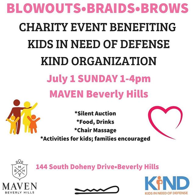 Standing with YOU! Come join me tomorrow Sunday at @mavenbeverlyhills for braids and blowouts to #keepfamiliestogether My girl @nicolelburg's got you covered for brows. All proceeds go to @supportkind