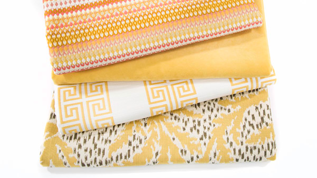 Sunray:Ahappy yellow that works well with everything from soothing greys to energetic pinks