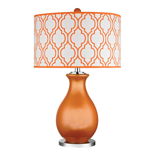 Tangerine Orange Glass Table Lamp