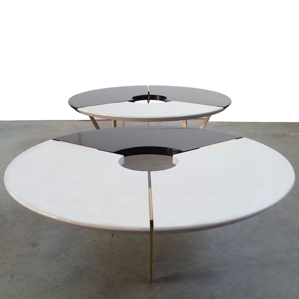 From Above II Table, Black and Stone by Hagit Pincovici