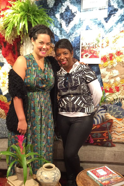 Justina Blakeney and I at Design Bloggers Conference