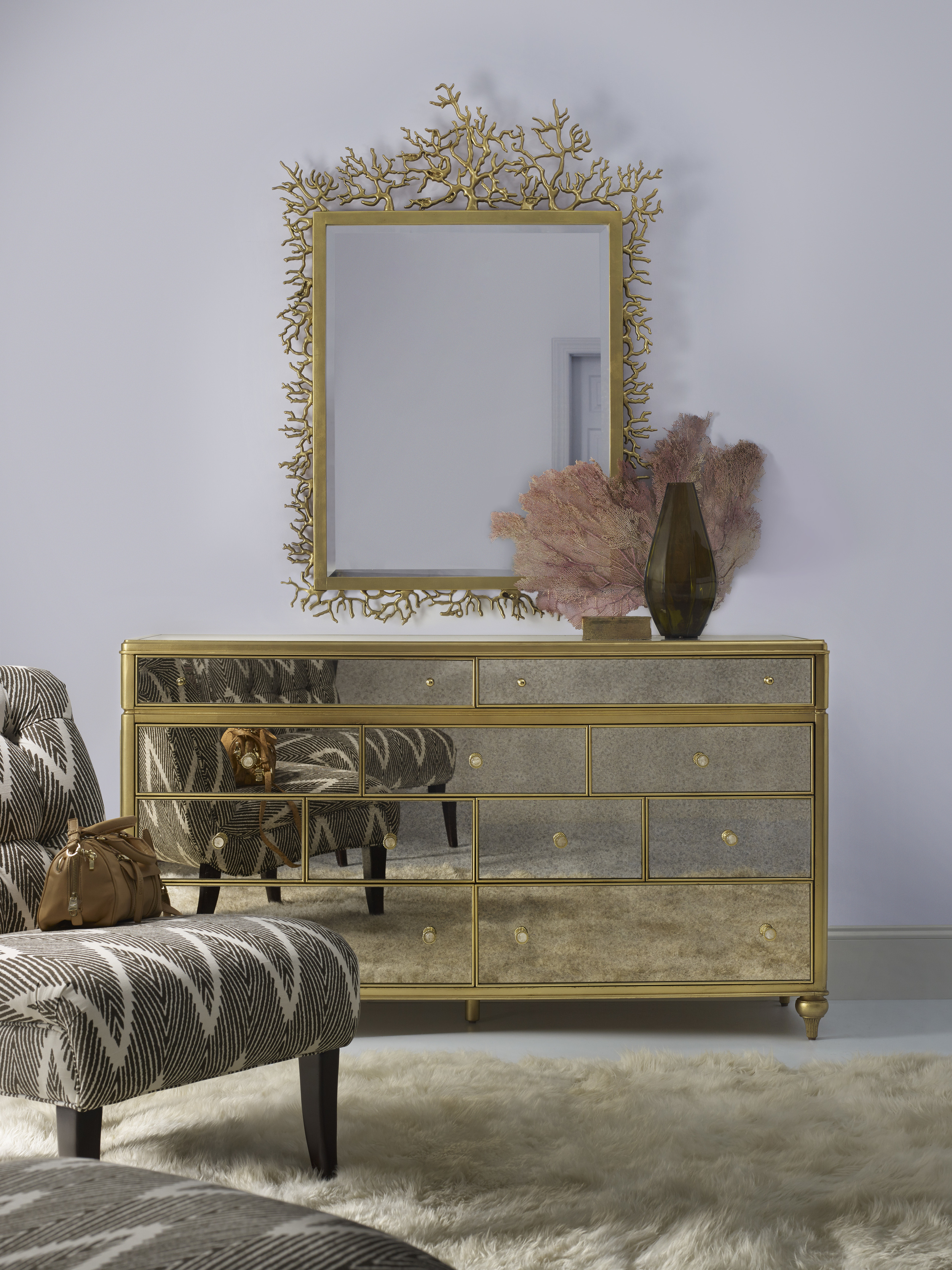 cynthia rowley for hooker furniture curious decorative twig mirror and dresser.jpg