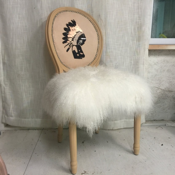 Throne Upholstery Chair Native American Inspired