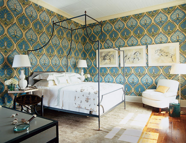 Bedroom Designed by Elaine Griffin of Elaine Griffin Interiors
