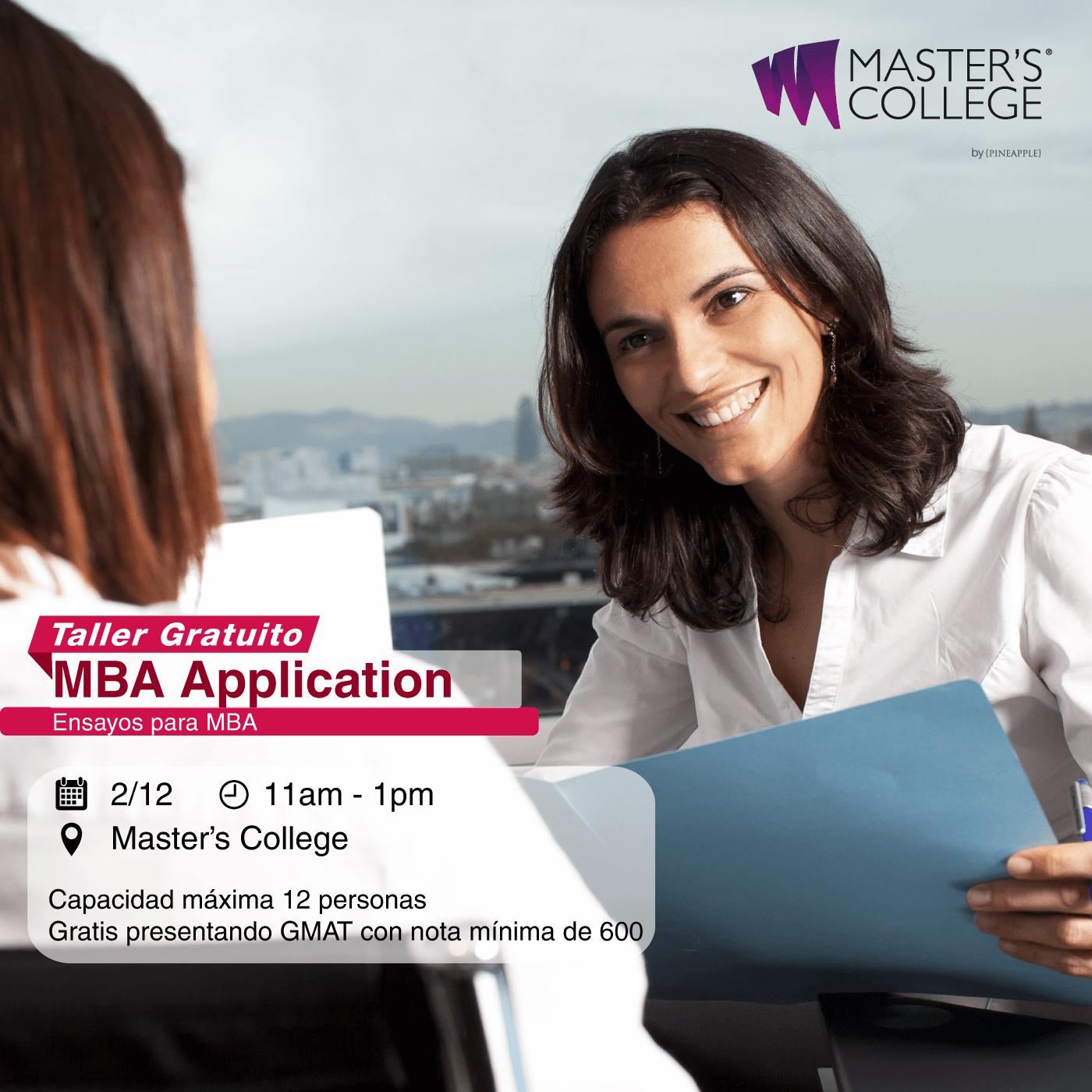 Taller gratuito: MBA Application - Ensayos para MBA