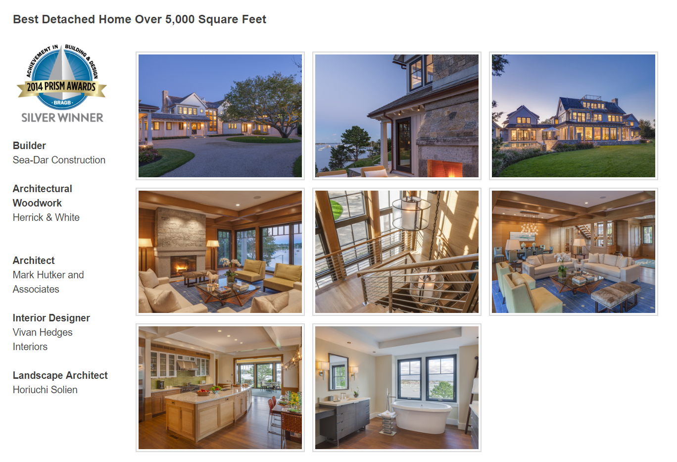2014 Silver PRISM Award - Best Detached Home Over 5,000 Square Feet