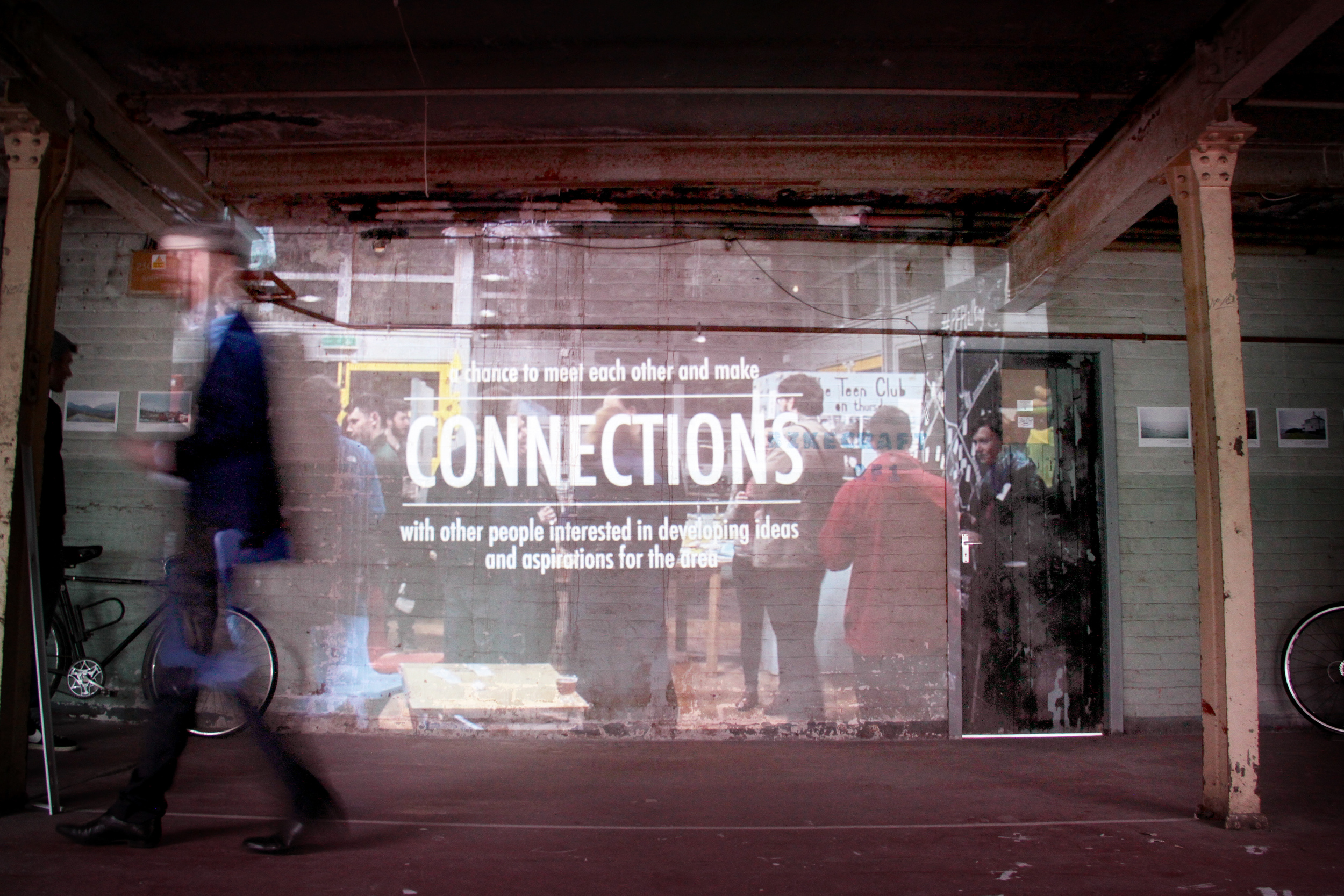 Connection to Place exhibition and film screenings curated by HERE+NOW at The Biscuit Factory