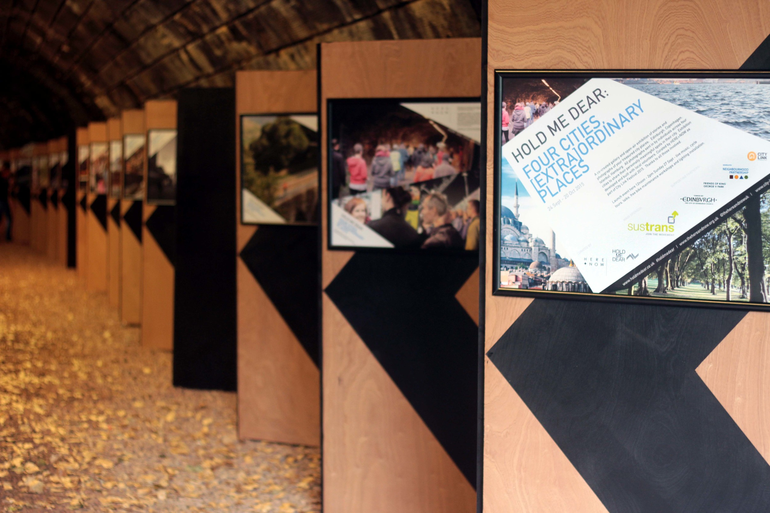 Hold Me Dear exhibition in Rodney St tunnel. Winner of the 2016 Scottish Design Awards for Regeneration. Find out more  here .