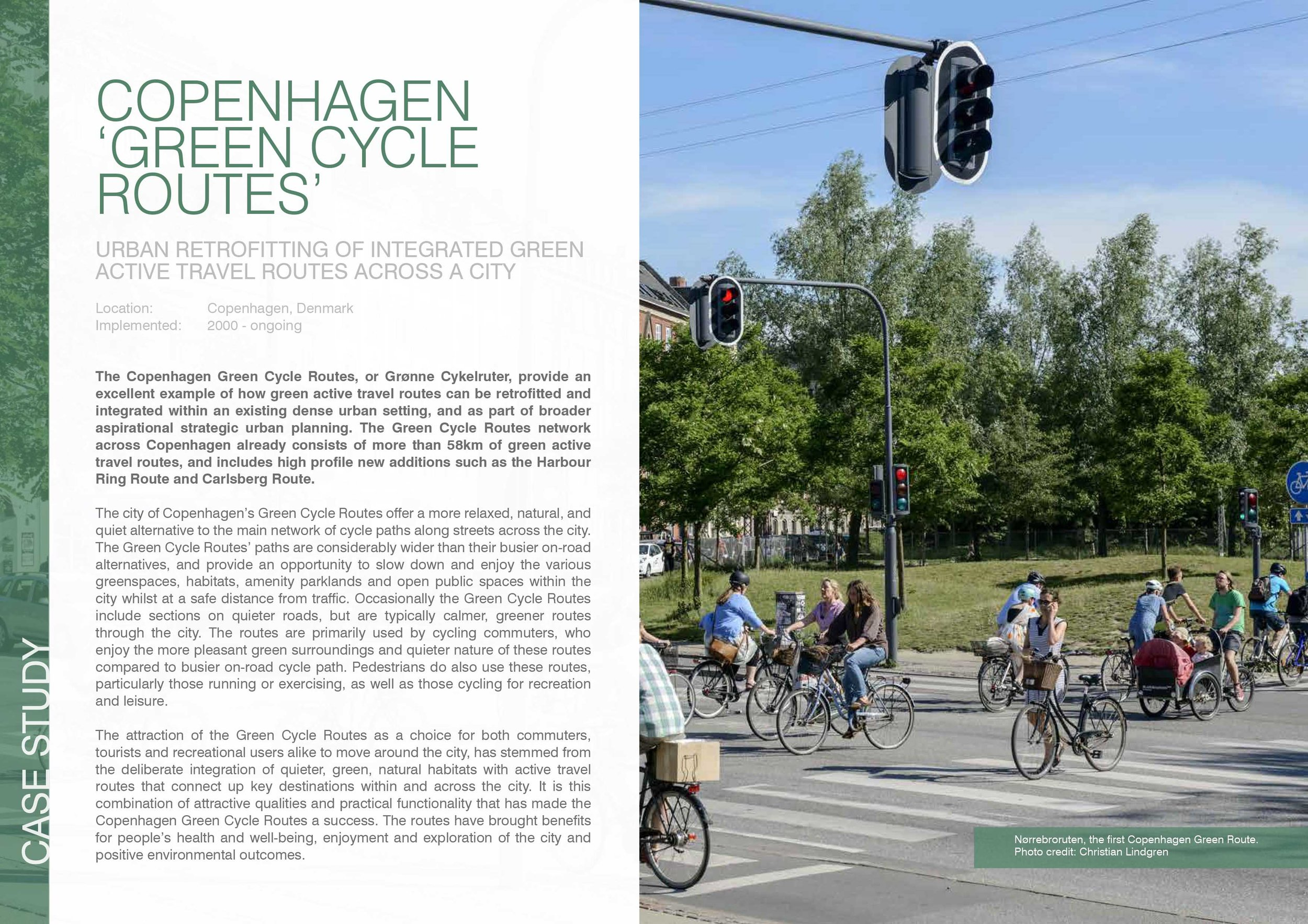 Green Cycle Routes, Copenhagen:  cycle and pedestrian network for green commuting.