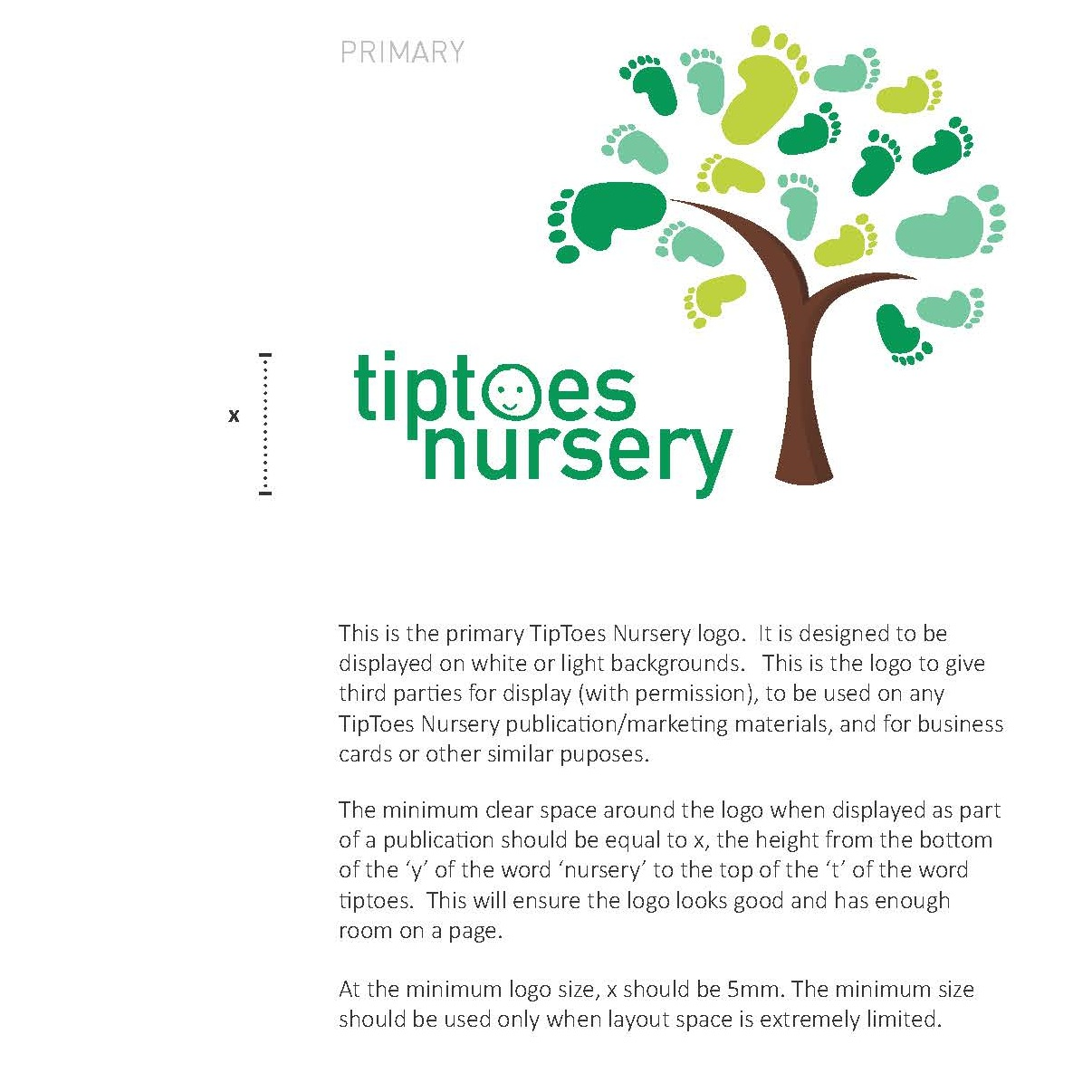 Tiptoes Green Outdoor Nursery Design  ENGAGE | DESIGN | GRAPHICS | STYLE GUIDE