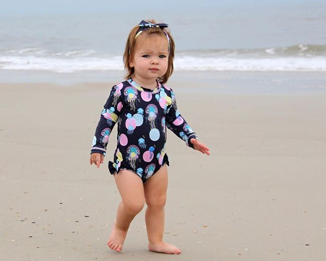 Let your little one strut along the beach looking trendy and protected by the harmful rays 🌞 • The Jellyfish cookies rash guard body suit is a hit! GET YOUR LITTLE ONE THE PERFECT SWIMWEAR IN STORES NOW • • #kriocolorswimwear #kriocolortips #kriocolor #swimwear #kidsfashion #kidswimsuit #perfectswimwear #babyfashion