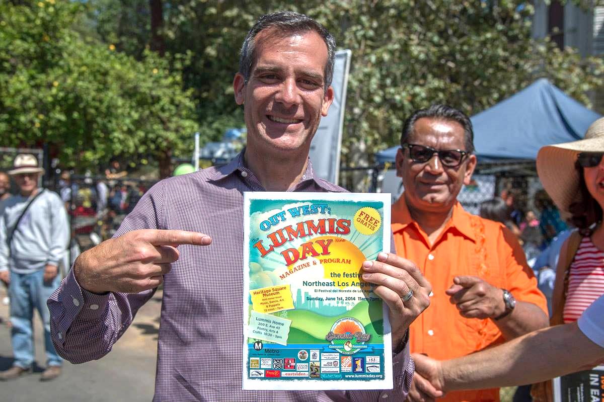 mayor eric garcetti and city councilman gil cedillo