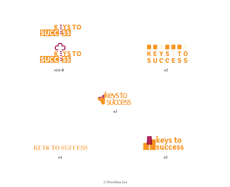 First set of different logo directions submitted