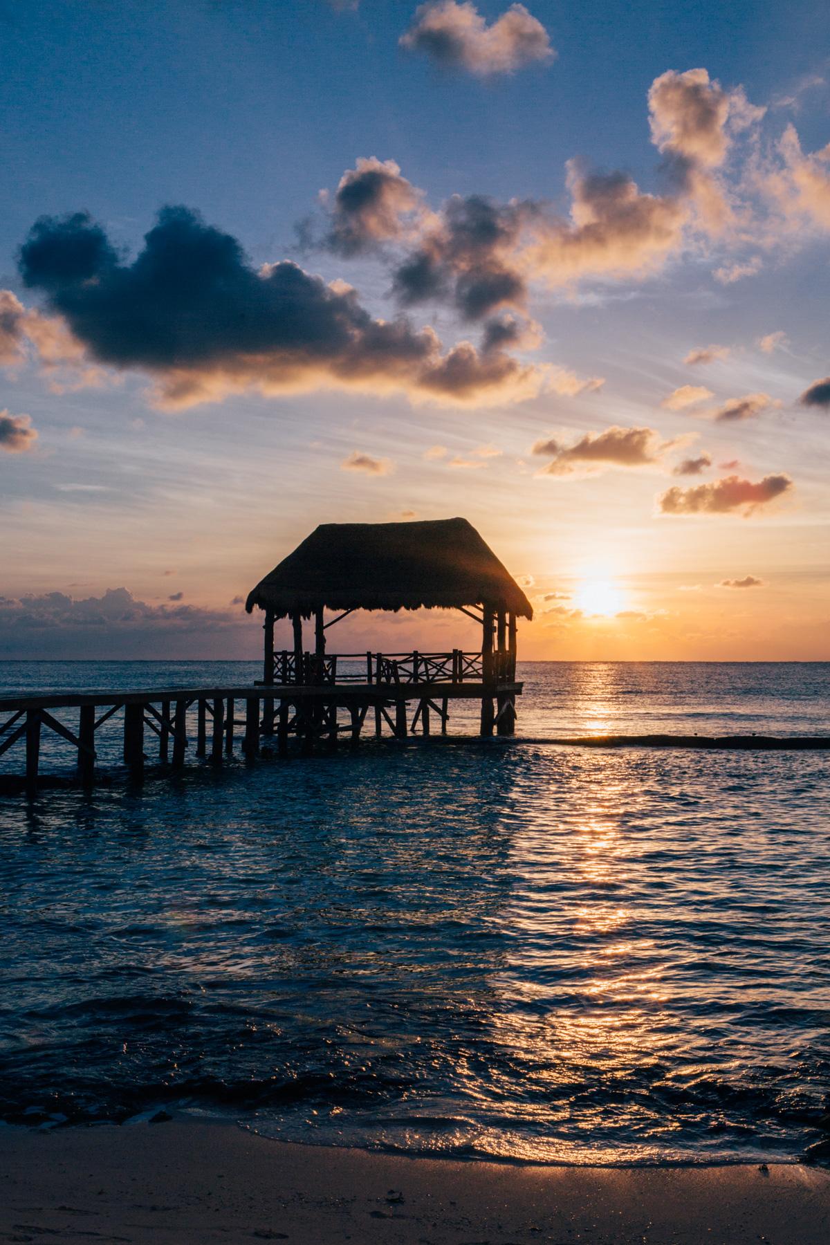 Sunrise at  Azul Fives , Playa del Carmen, Mexico