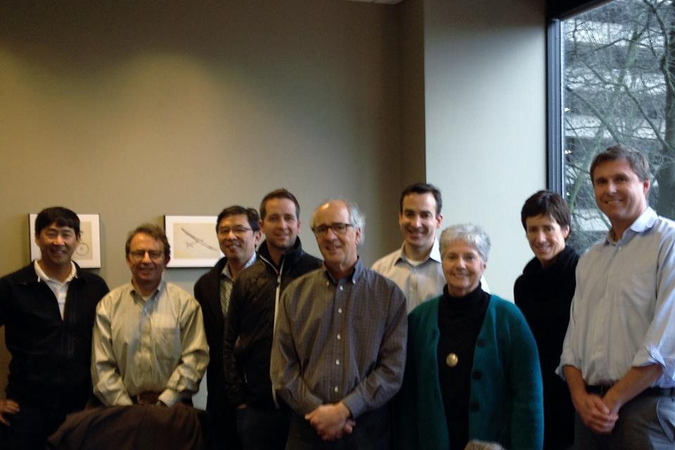 Pictured left to right: Mike Nakajima, past chair; Bob Howard, chair; David Aoyagi; Nathan Roach, Vice Chair; Harry Aldrich; Matt Semler; Danice Brown, Executive Director; Elise Orban; Jonathan Stark. Not pictured: Brian Joelson, Dr. Ernie Hartzog and Anna Arodzero, Secretary
