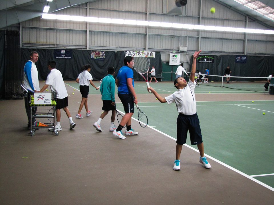 """With over 2500 ATP match """"aces"""", Jonathan Stark is the perfect man to work with PAST&E Scholar Athletes on their serves. Jonathan Stark is a Board Member and major supporter of PAST&E. Stark is from Medford, OR, and he reached No. 1 in the world in Doubles in 1994."""