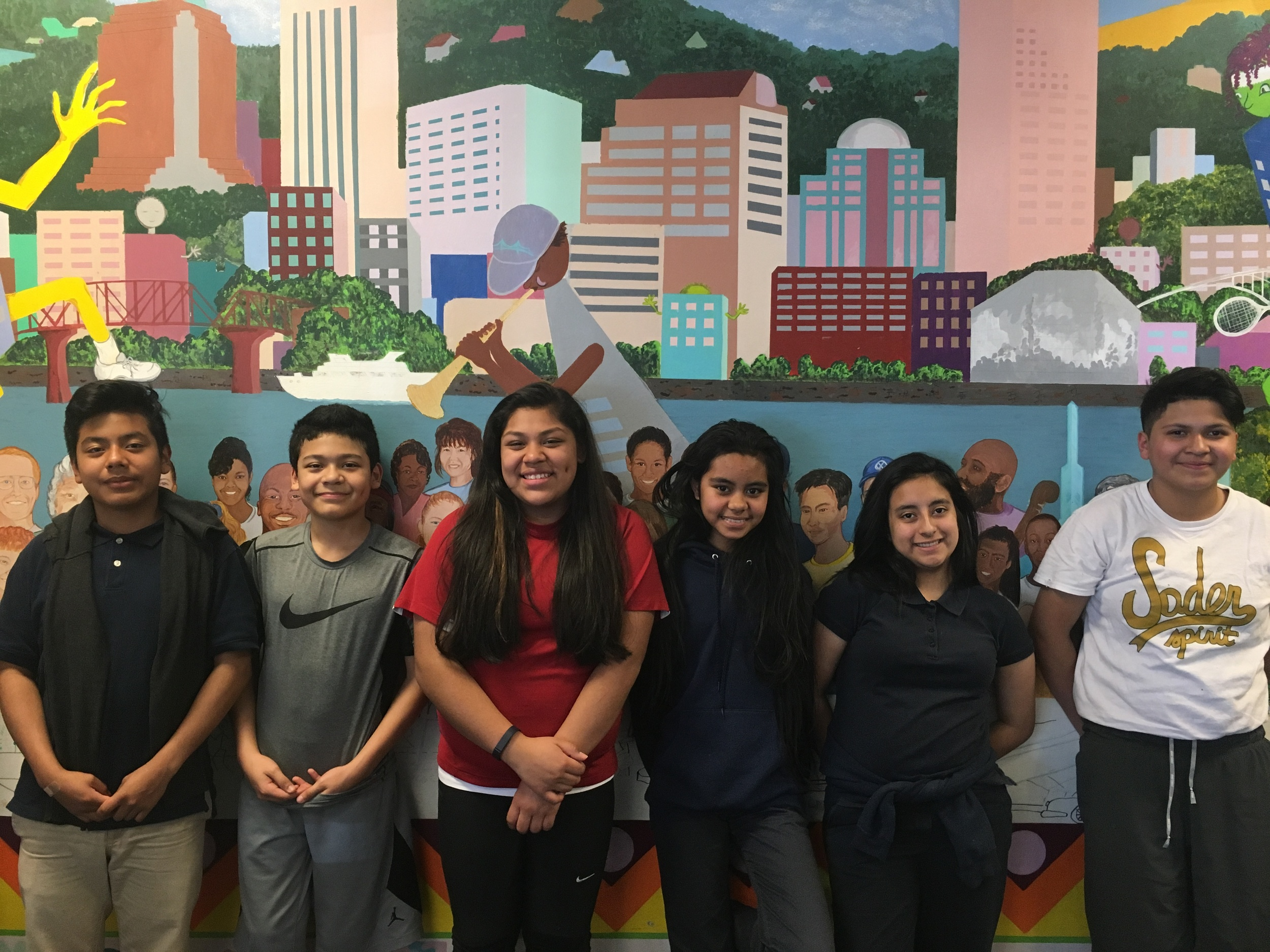 Cesar, Angel, Kassandra, Gemma, Emamaria, and Mallory are 7th Graders in Portland Tennis & Education who are applying for the Jack Kent Cooke Young Scholars Program.