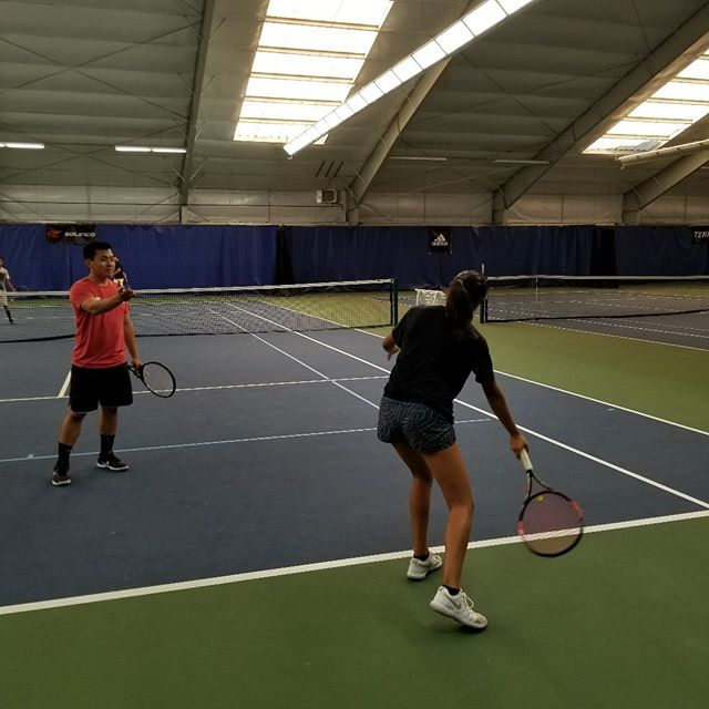 """For this #TennisTuesday we have a tennis tip for you! If you are learning how to play tennis or if you want to improve the timing of your shots, you can try our """"bounce and hit"""" exercise. It is very simple and effective! Every time the ball bounces on your side of the court say """"bounce and hit"""" and try making contact with the ball before you are done with the phrase. This will help you prepare early for the shot and it will bring consistency to your swings.  #TennisTuesday #tennis #tips #practice #sport"""