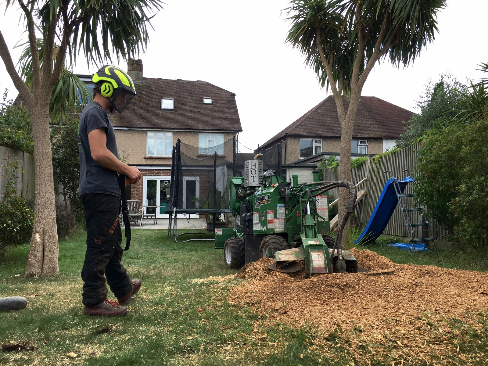 STUMP GRINDING - AND GRUBBING