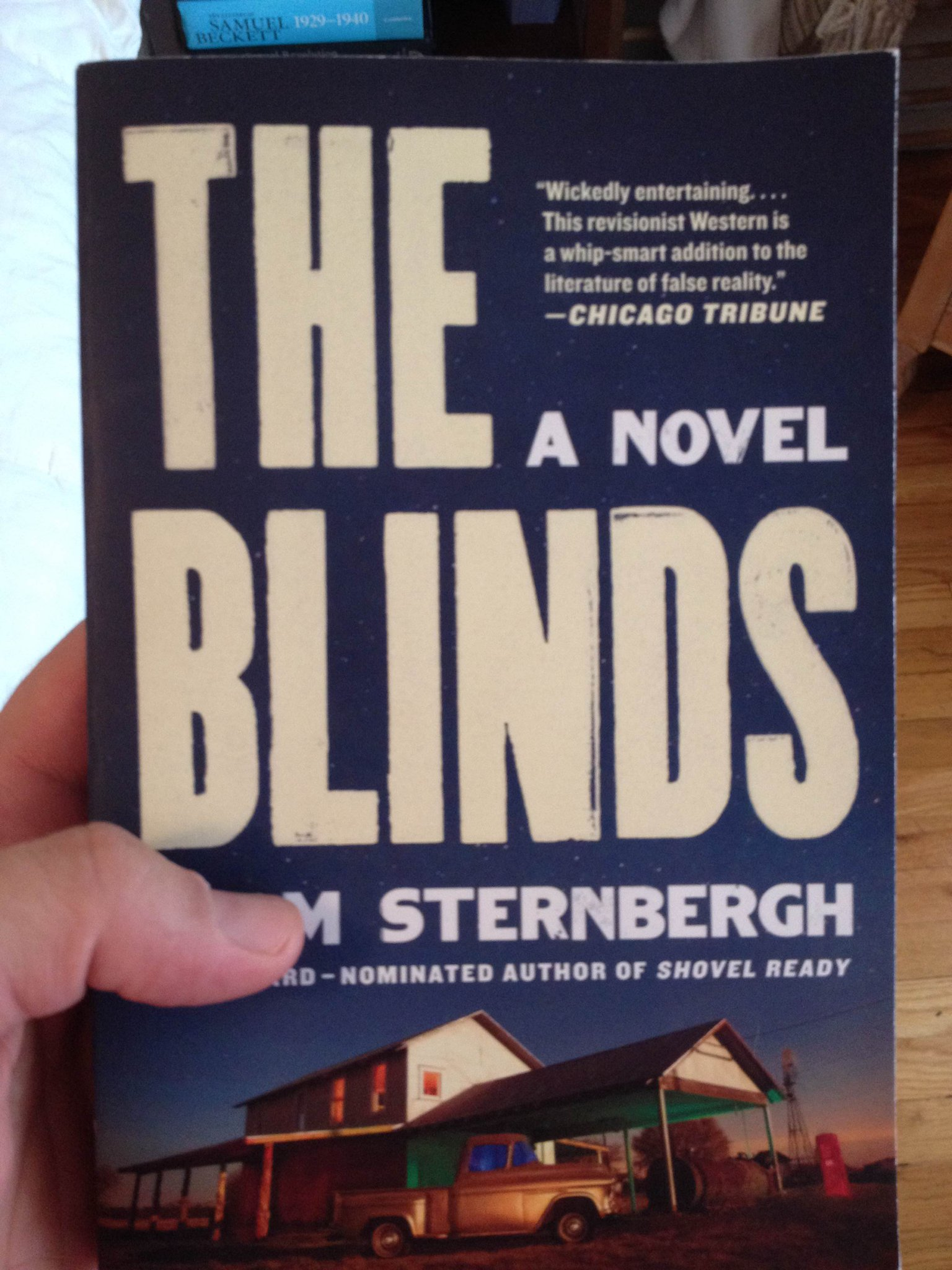 The only known photograph of THE BLINDS paperback currently in existence.