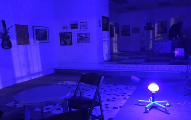Randy Dalton's White Floor Lamp