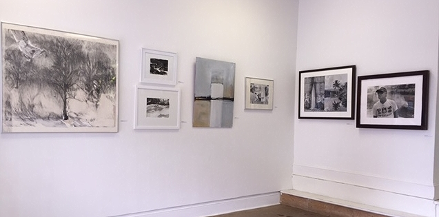 Works by (L to R) Susan Lowry, Megan Culp, Kackie St. Clair and Michael M. Koehler
