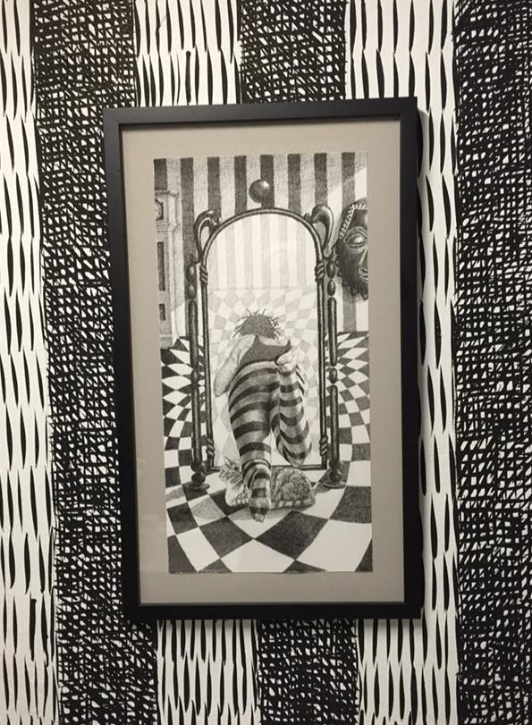 """Drawing by Cavin Jones. Print from his """"Into Wonderland"""" Series"""