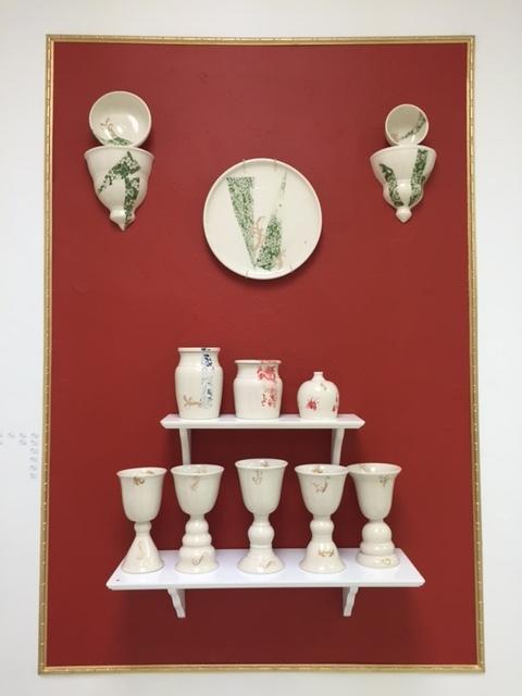Porcelain work by Angela Klaerner Clark.