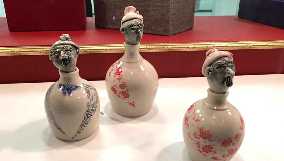 Bird Head bottles by Angela Klaerner Clark.