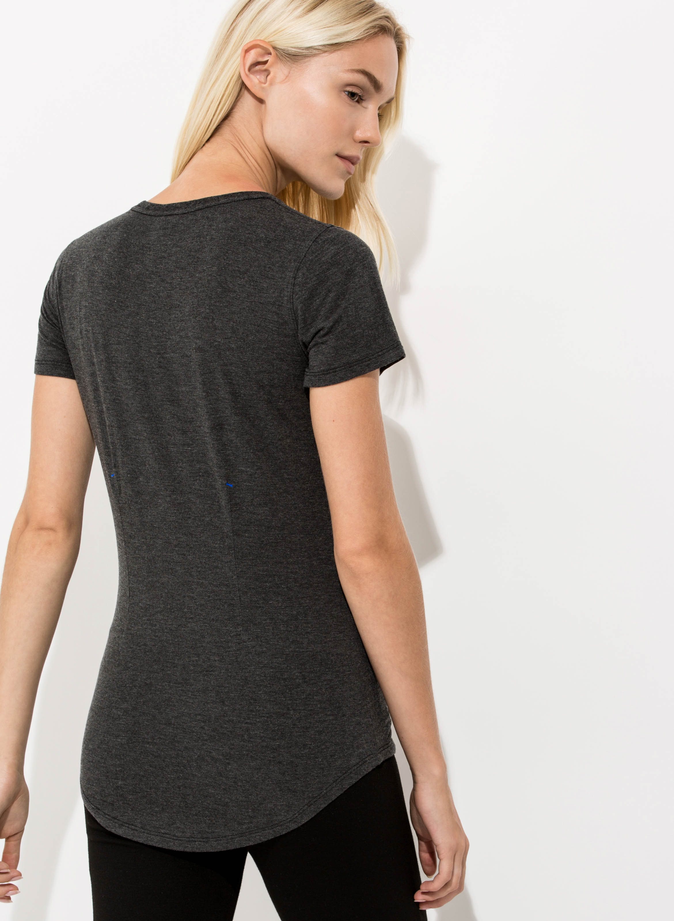 Kit & Ace Kaye T-shirt in Heather Charcoal