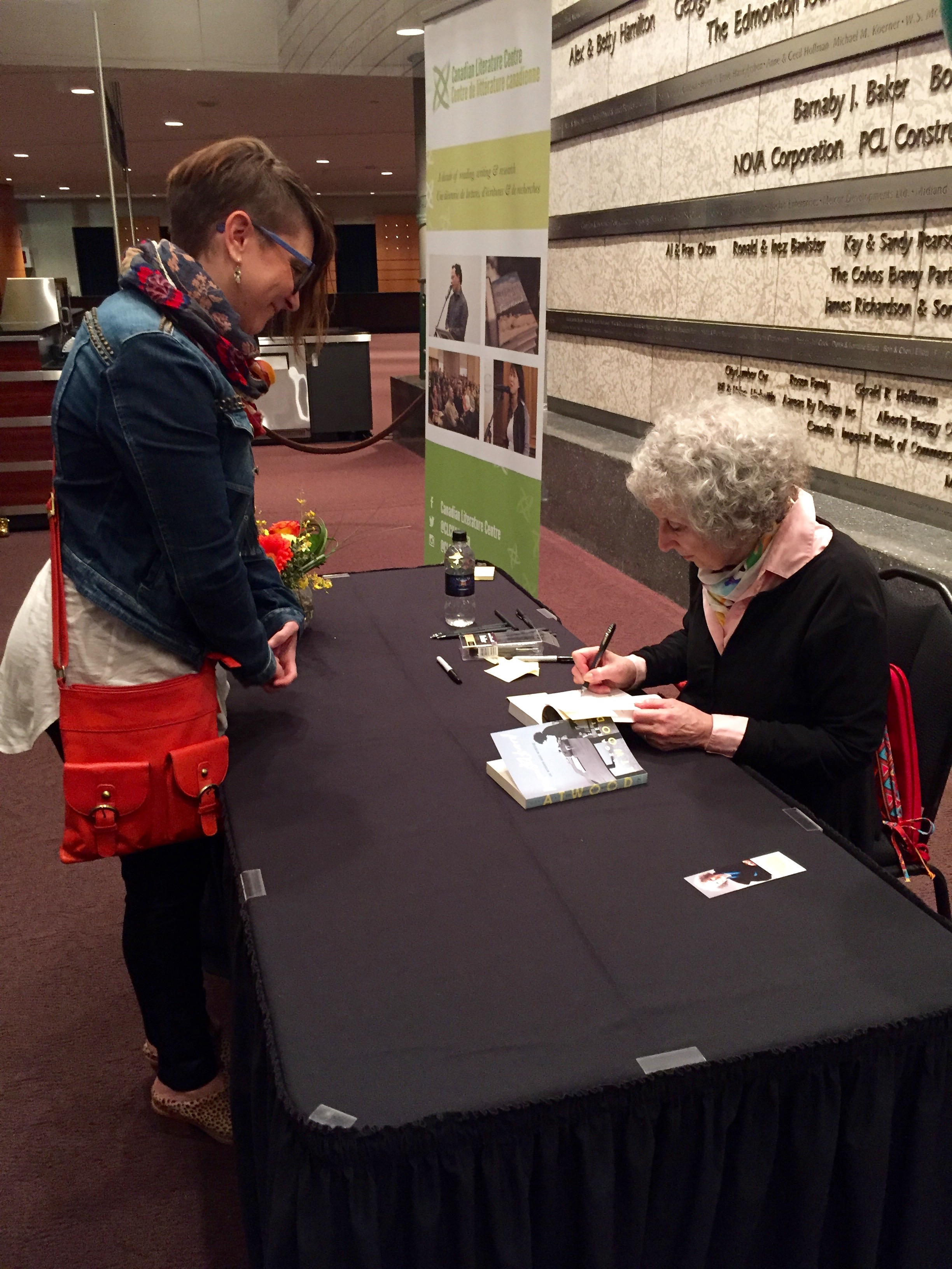 #fangirl stoopid grin while Margaret Atwood signs my books!