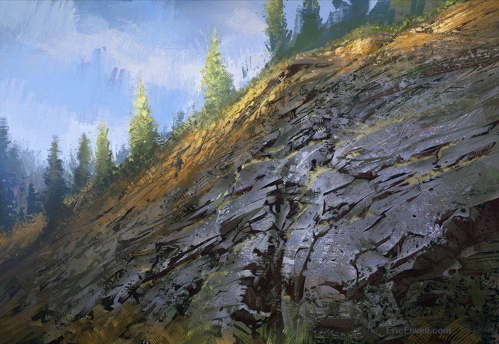 A Grassy Cliff Face
