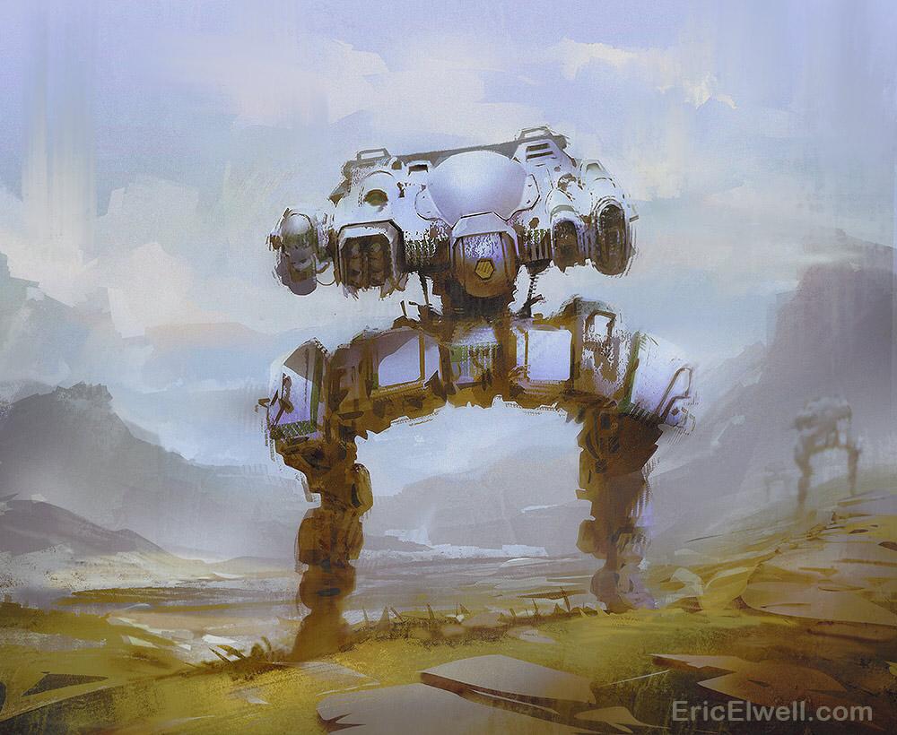 Iron Titan: Sci-Fi Concept Art