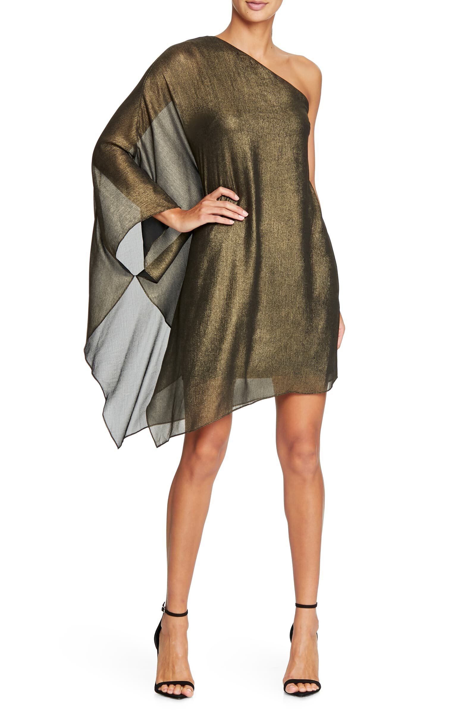 This beautiful, metallic dress is both chic and elegant - you can find it at Nordstrom.