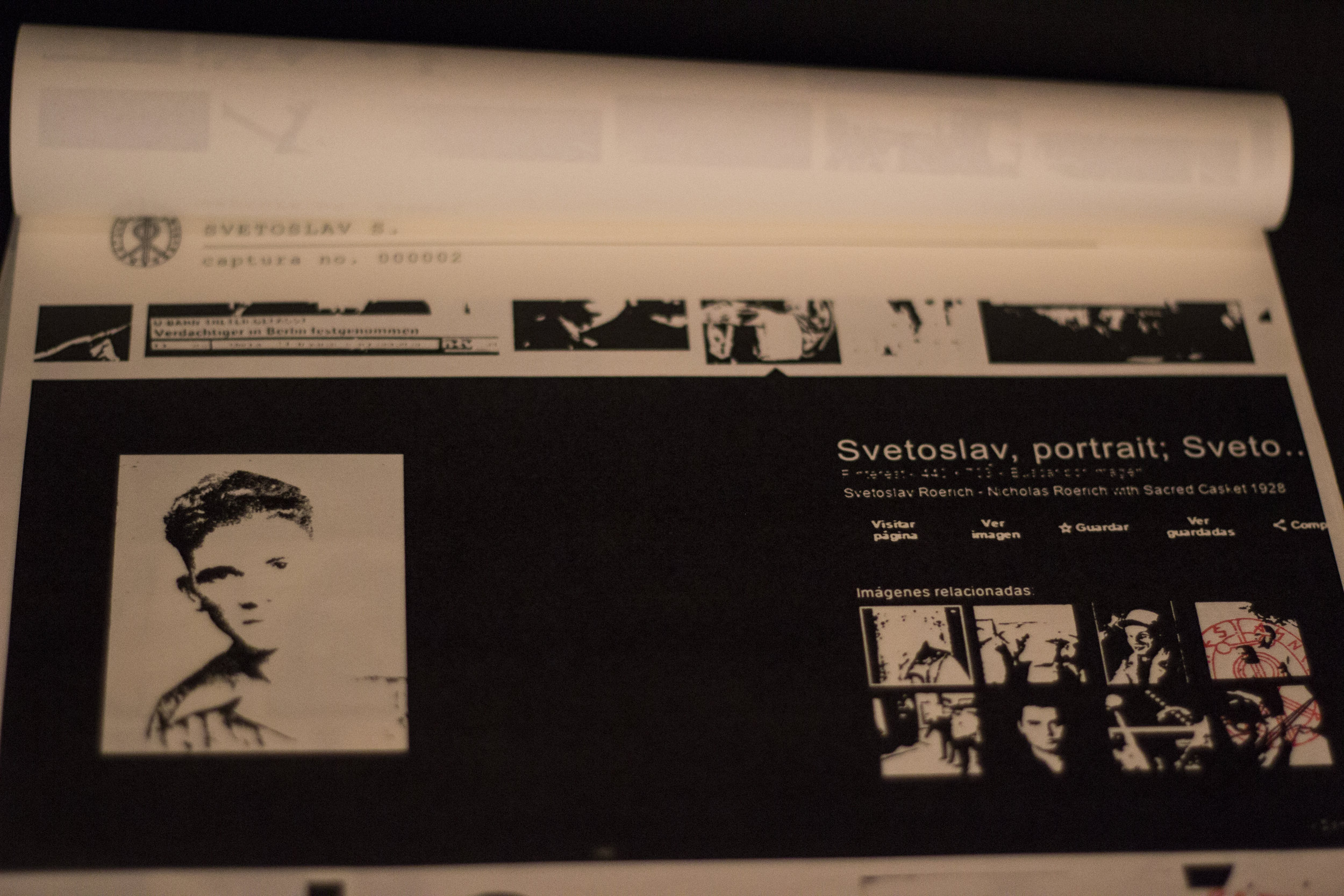 File 2132-97 Svetoslav S. Ediciones Trece Noventa. Adrián Flores Sancho. Displayed copy, Installation View. Images by Verónica Alfaro. 2017