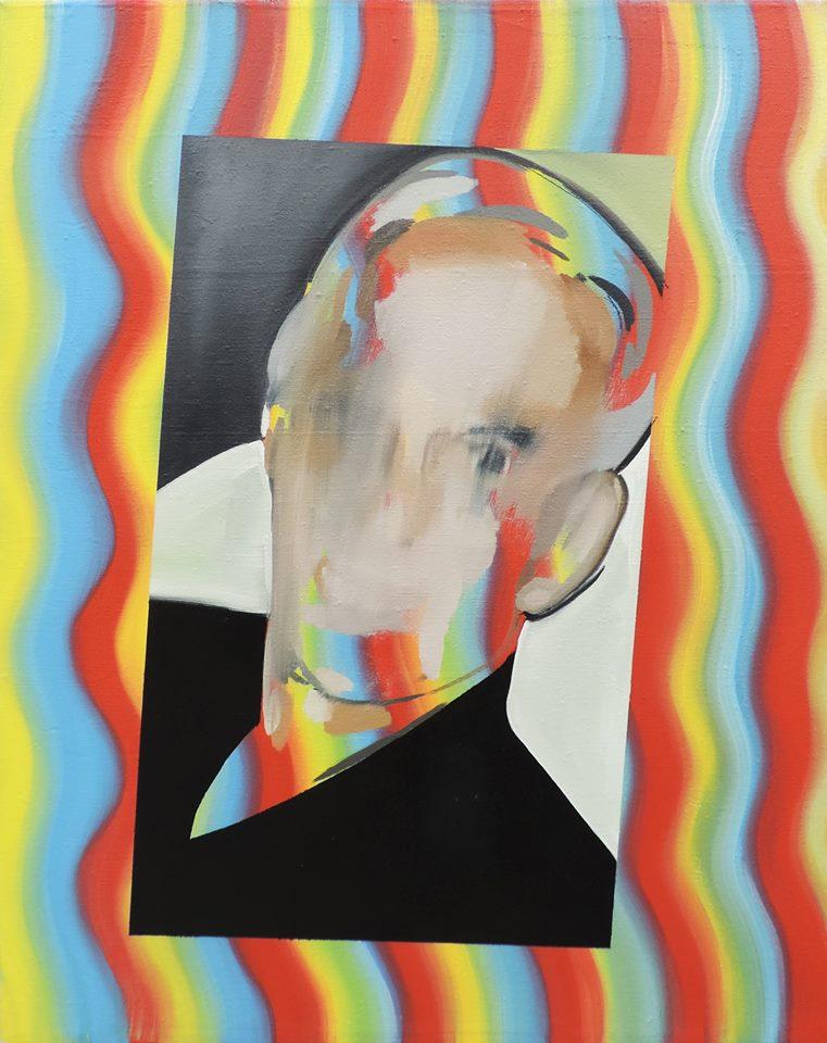 Untitled (Speed and Politics)  Oil on jute  99,5 x 80 cm  2015