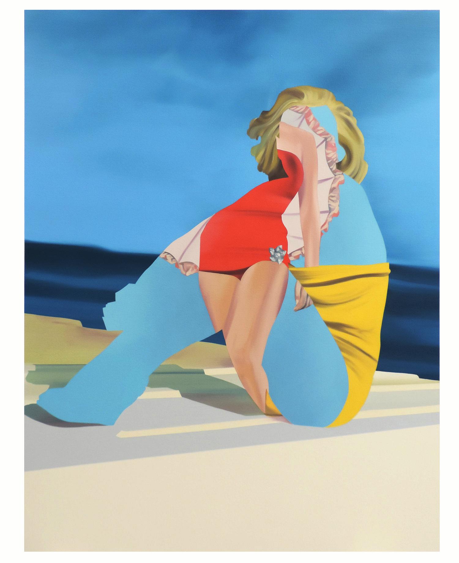 Triple Constraint, oil on canvas.11,5 x 91,5 cm 2018