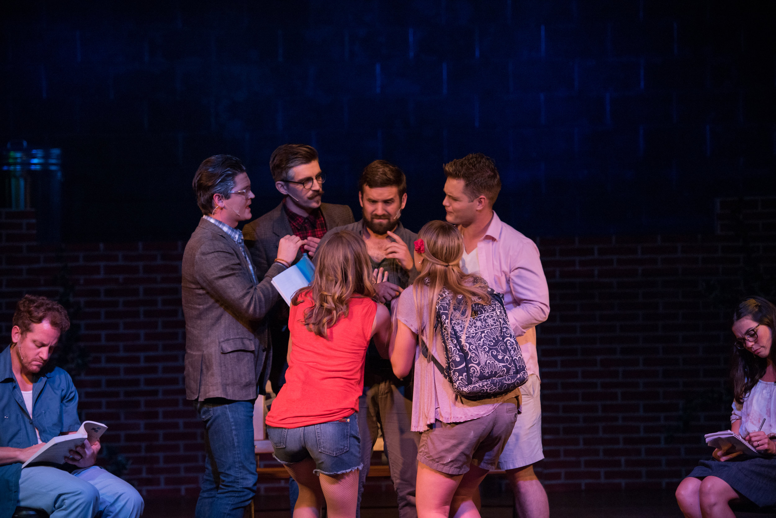 """Nod, played by Arts at Center Street Theatre Company member Benjamin Reese, """"had 'absorbed' voices from throughout his life, and his inner dialogue sets the scene for the entire play."""""""